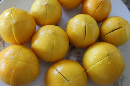 5 sliced lemons for preserving